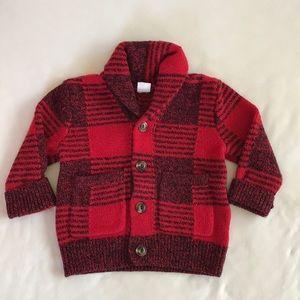 Baby Gap Boys Plaid Cardigan Size 18-24 Months